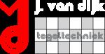 Officiele logo Tegeltechniek Van Dijk rood en wit