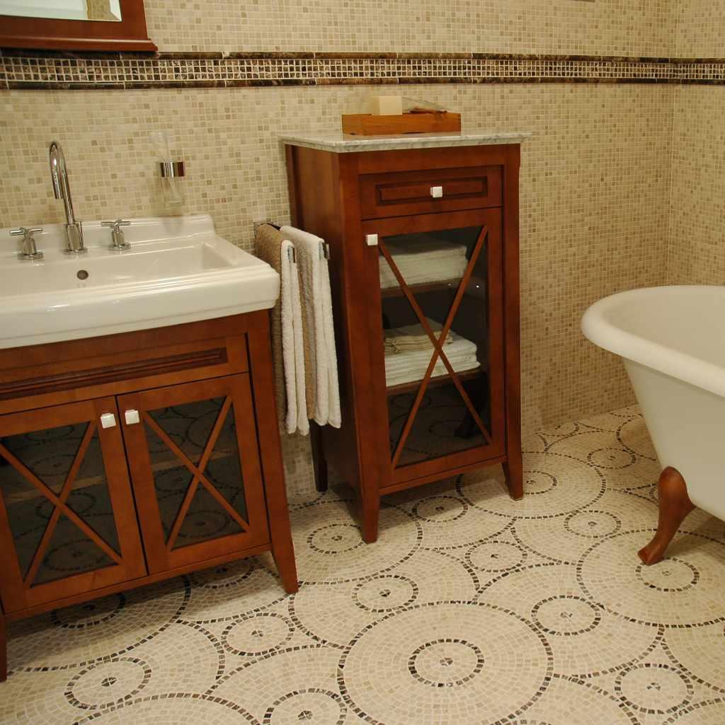 Mosaic tegels badkamer Tegeltechniek J. van Dijk
